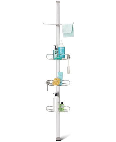 bathroom accessories shower caddy simplehuman bath accessories tension shower caddy