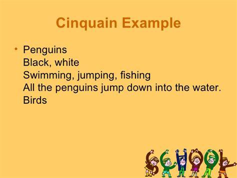 cinquain template 5th grade poetry unit