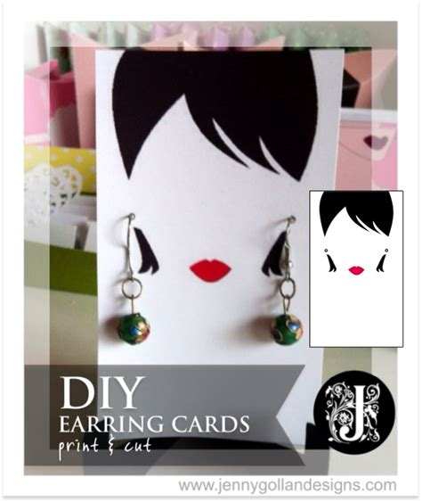 jewellery cards templates earring card template design gollan designs diy