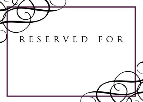 reserved seating signs template reserved sign templates mommymotivation