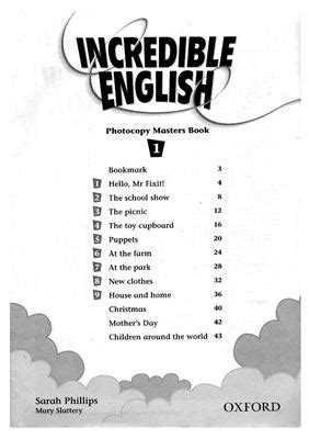 Incredible English 1. Photocopy Masters Book [PDF] - Все