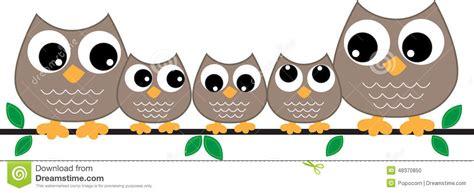 Wall Sticker Birds owl family header or banner stock illustration image