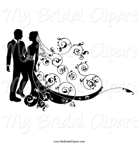 Wedding Black And White Clipart by Royalty Free Wedding Background Stock Bridal Designs