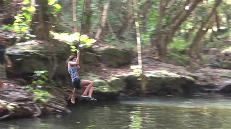 kauai rope swing rope swing into the water picture of outfitters kauai