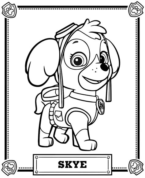 paw patrol coloring pages full size skye paw patrol coloring pages with wallpaper images