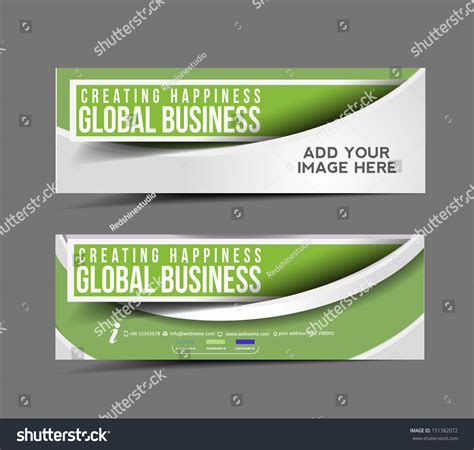 layout header web banner header layout template stock vector