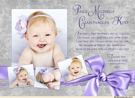 Invitation Letter Sle For Christening Christening Thank You Wording Baptism Celebration Thank You Cards Three Photo Ivory
