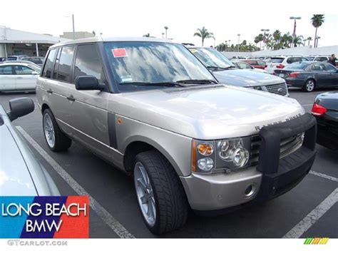 white and gold range rover 2003 white gold metallic land rover range rover hse