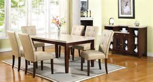 Cream Dining Room Britney 64 Inch Dining Room Set W Cream Chairs