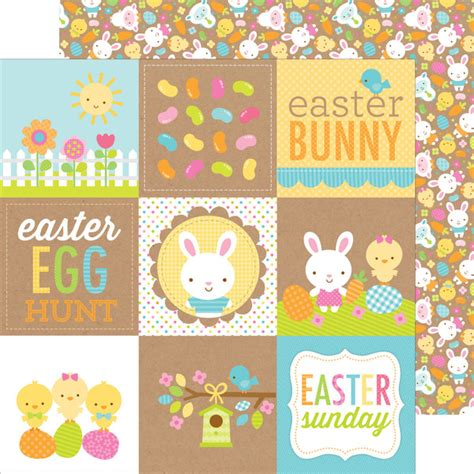 doodlebug easter parade doodlebug design easter parade bunny and friends paper