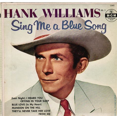 who sings every light in the house is on hank williams sing me a blue song beatnick records