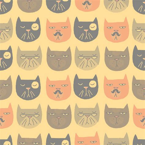 Cat Wallpaper Tile | backgrounds and such