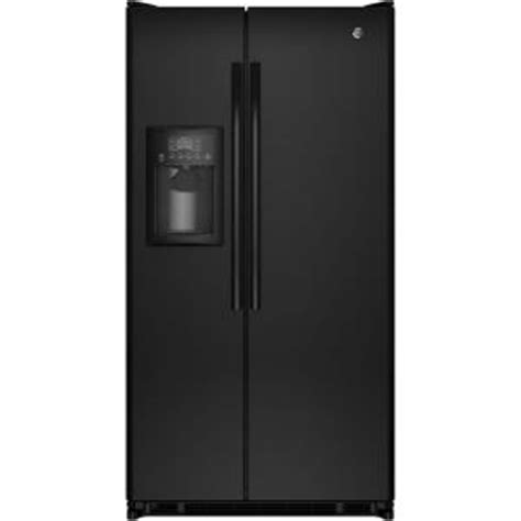 ge 24 7 cu ft side by side refrigerator in black
