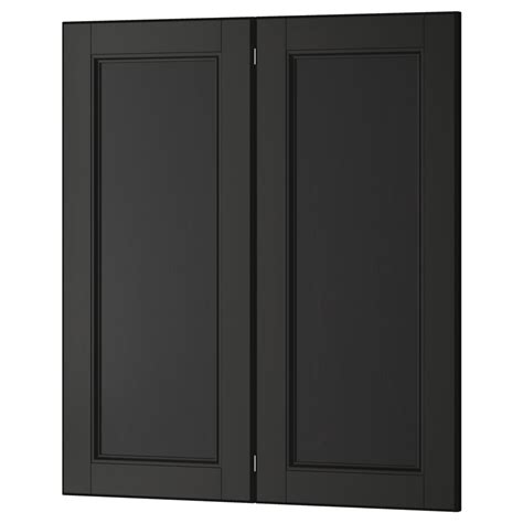 Black Kitchen Cabinets With Glass Doors Quicua Com Door Cabinets Kitchen
