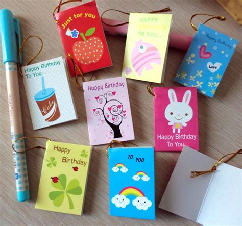 greeting card supplies for 64pcs lot creative mini small greeting cards for
