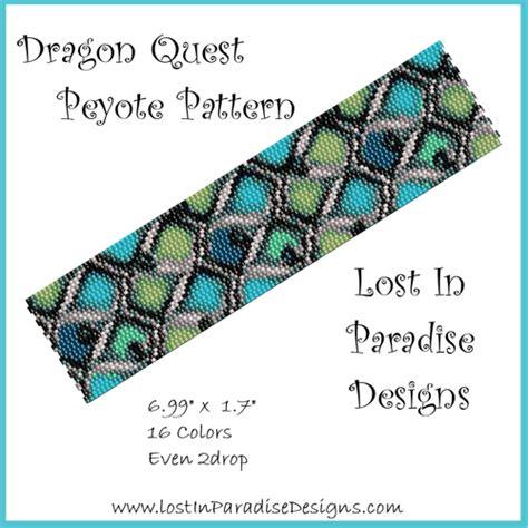 quest for a pattern dragon quest peyote bracelet pattern buy 2 get 1 free