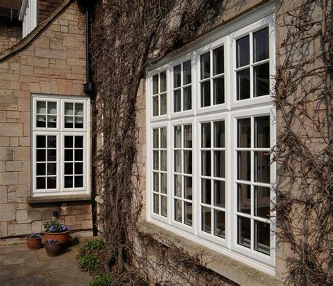 white upvc casement windows with georgian bars