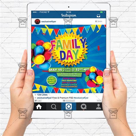 picture day flyer template family day premium flyer template instagram size flyer
