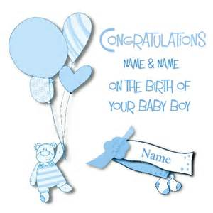 new baby boy greeting card