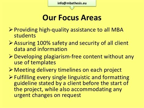 Mba In Safety And Security Management by Mba Thesis Writing Www Mbathesis Eu