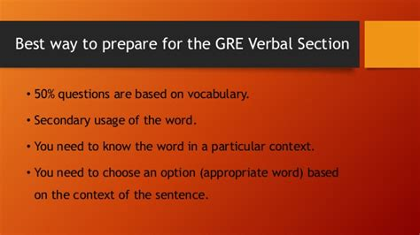 Gre Verbal Section Tips by How To Prepare For Gre Verbal Reasoning