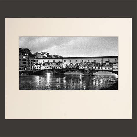 fontanelli cornici foto ponte vecchio a firenze bianco e nero toscana