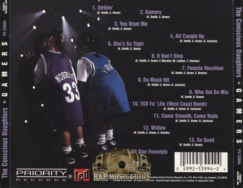 the conscious daughters the conscious daughters gamers cds rap music guide