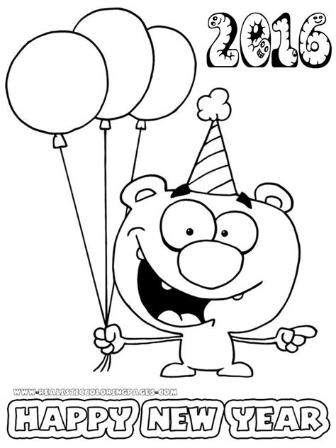 new year 2016 color sheets new year 2016 coloring pages for preschoolers realistic