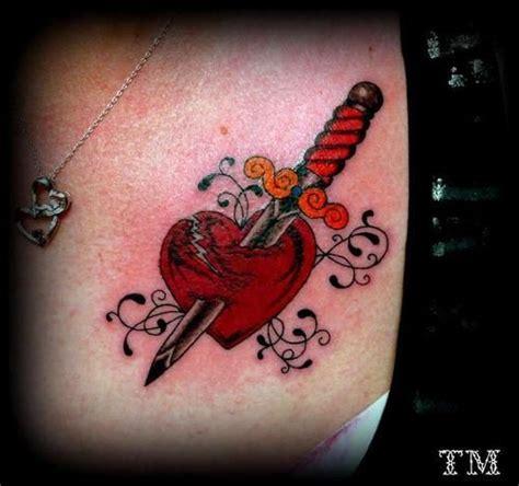 broken art tattoo broken with dagger day hearts board