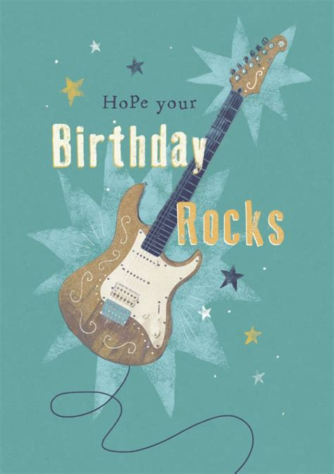 music themed birthday quotes claire mcelfatrick male birthday music rock guitar