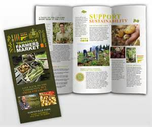 country brochure template farmers market tri fold brochure template