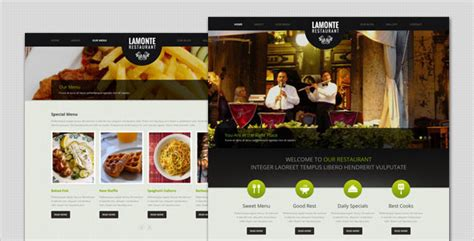 themeforest restaurant lamonte modern restaurant wordpress theme by