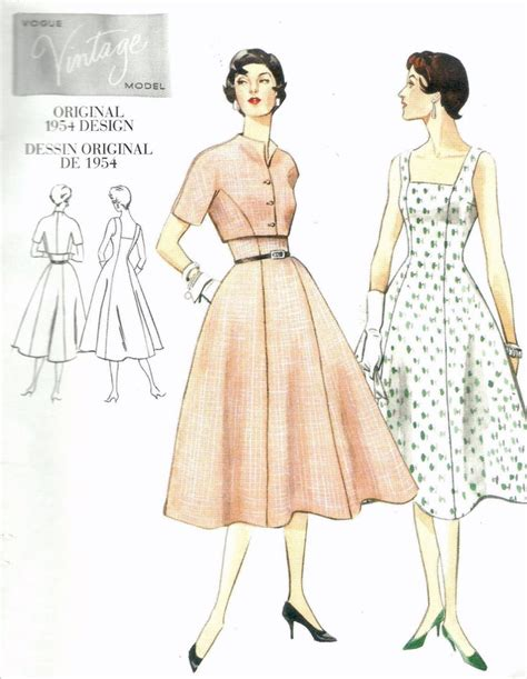 pattern for vintage dress 1950s dress and bolero jacket vogue vintage sewing