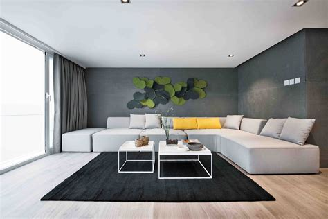 the home interior modern home features a in the living room alux