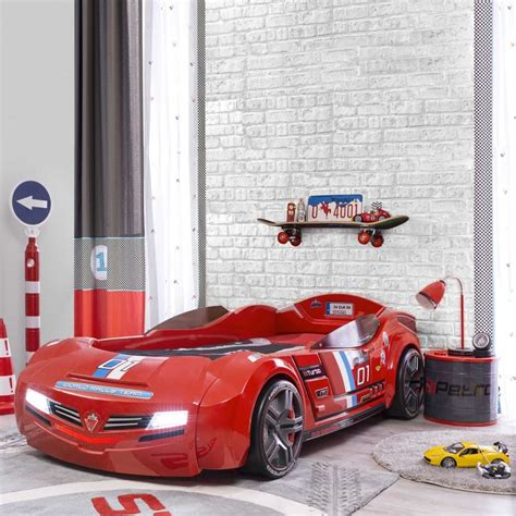 kinderbett auto segmuller autobett inkl matratze biturbo 90 x 195 cm kinderbetten