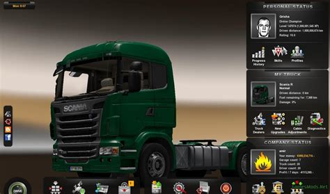 mods save game euro truck simulator 2 save game level 147074 187 gamesmods net fs17 cnc