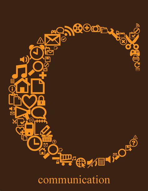 typography symbols typography letter c with communication symbols on behance