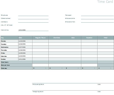 time card template docs time card template easily organize employee s timings