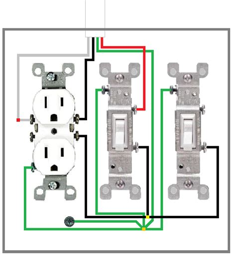 wiring two light switches in one box wiring diagram for 2