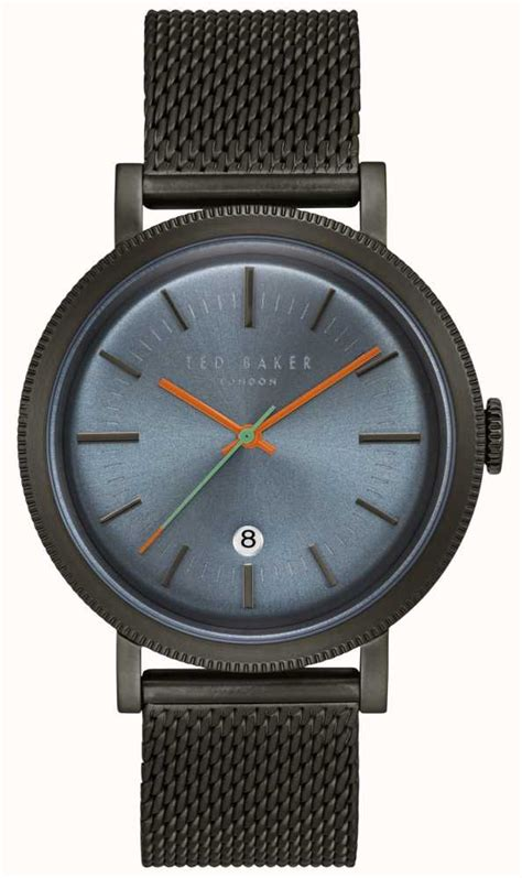 Ted Baker Te10024783 ted baker connor blue black pvd mesh stainless steel te15062008 class