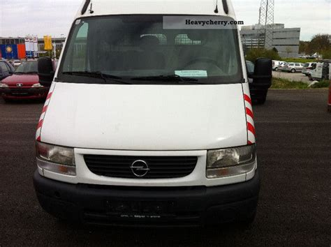 opel movano 2001 opel movano 2001 box type delivery van high photo and specs