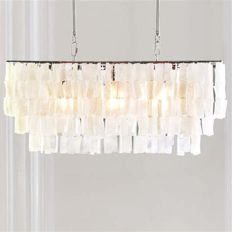 Capiz Chandelier Rectangular Large Rectangle Hanging Capiz Pendant From West Elm Lighting