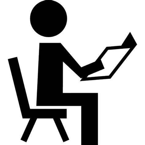 stuhl icon lehrer lesung auf einem stuhl der kostenlosen icons