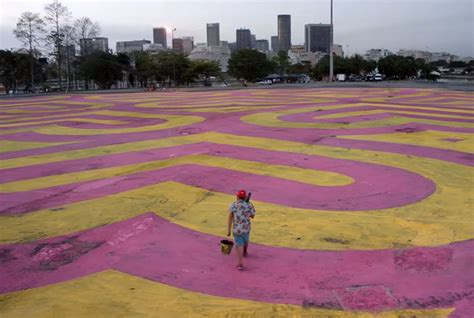 worlds largest animated gif created  ground paintings