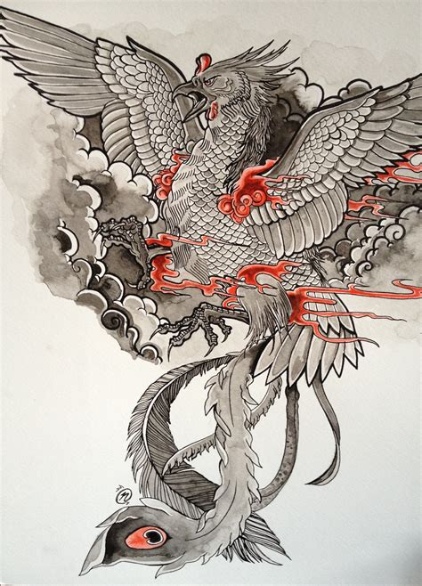 japanese phoenix tattoo japanese tattoos pinte