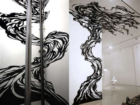 pattern tape wall art astounding adhesive murals masking tape design