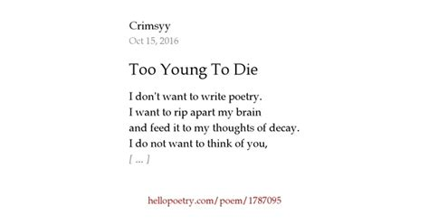 young  die  crimsyy  poetry