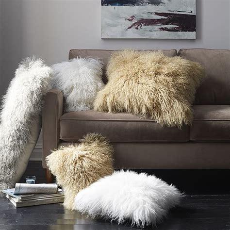 mongolian lamb pillow cover platinum 14 quot x36 quot west elm