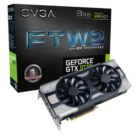 Evga Vga Gtx 1070 8gb Gaming evga geforce gtx 1070 ftw2 gaming icx rgb led videok 225 rtya 8gb gddr5 web 225 ruh 225 z pcland