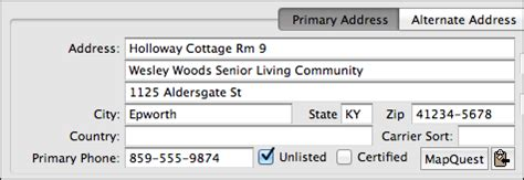 Entering Apartment Address Primary Address Cdm Knowledge Base